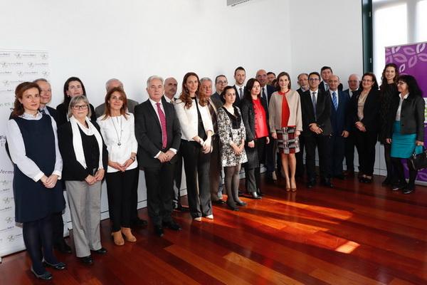 Reunión con SSMM LA REINA DÑA LETIZIA y junta directiva de FEDER