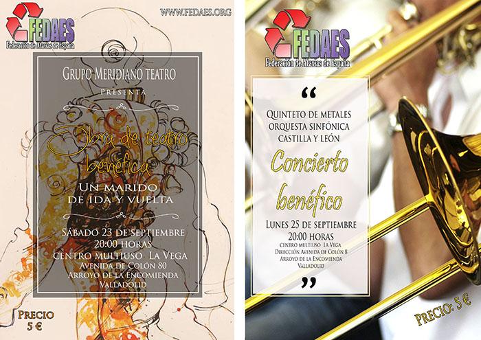 Obra de teatro y concierto benéfico en Arroyo de la Encomienda