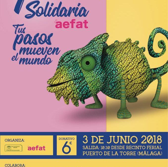 El actor Salva Reina volverá a apadrinar la Carrera SolidariaAefat de Málaga para investigar la ataxia telangiectasia