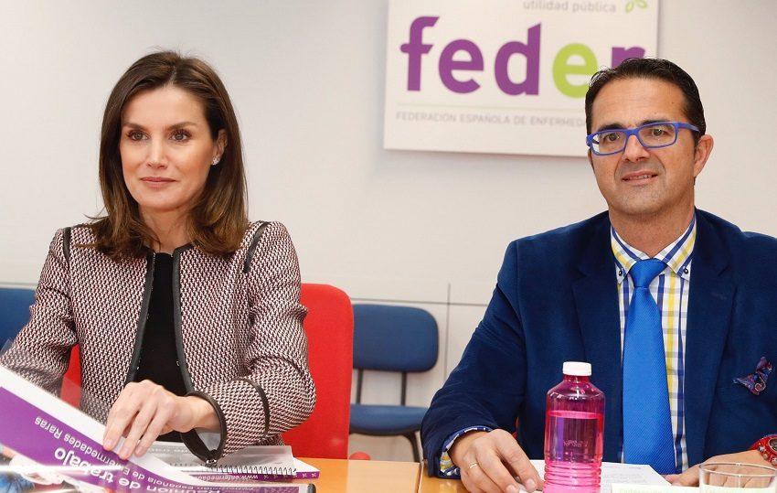 La Reina Letizia se reúne con la FundaciónFEDER
