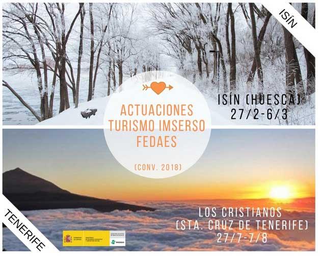 ACTUACIONES TURISMO IMSERSO FEDAES (CONV. 2018)