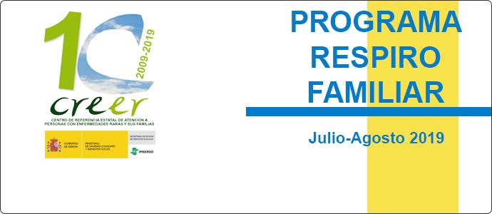 Convocatoria del Programa Respiro Familiar 2019 del CREER