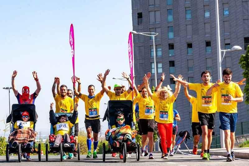 6 niños y jóvenes con ataxia telangiectasia volverán a participar en la maratón de Vitoria-Gasteiz el domingo