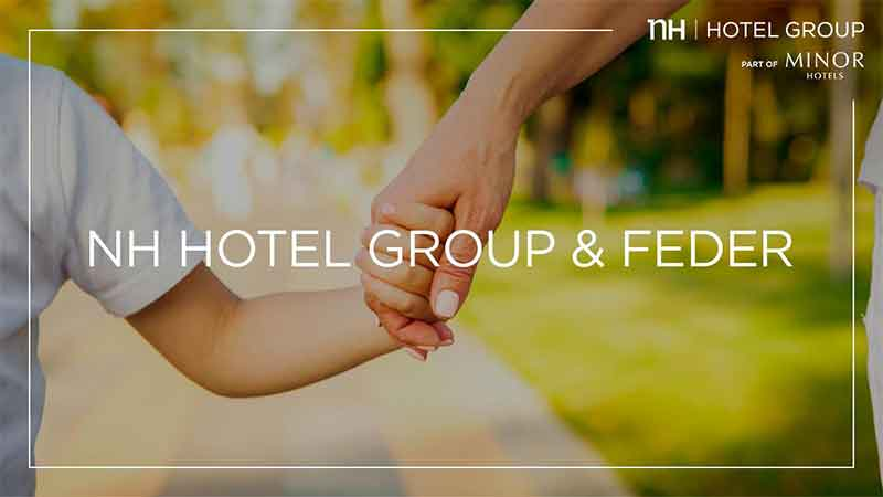 Familias de pacientes con enfermedades raras: NH acuerda la donación de noches de hotel