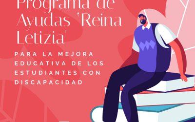 Programa de Ayudas 'Reina Letizia' para la mejora educativa de los estudiantes con discapacidad